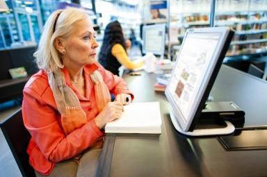 Computerwerkplekken in de Bibliotheek