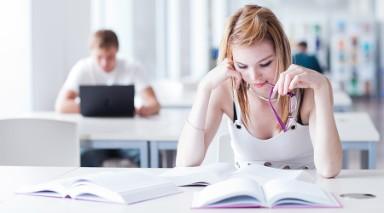 studeren in de bieb